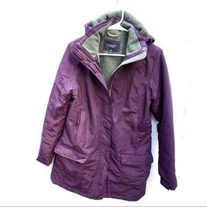 Lands End The Squall womens XS purple jacket coat